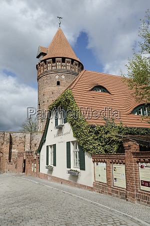 germany saxony anhalt tangermuende old town