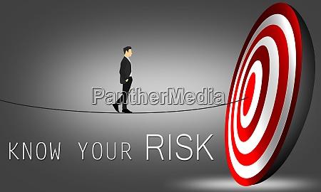 risk concept businessman walk toward archery