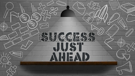 success just ahead word business concept