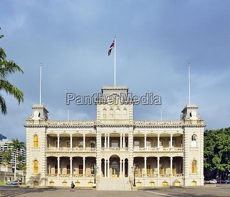 usa hawaii honolulu iolani palace national