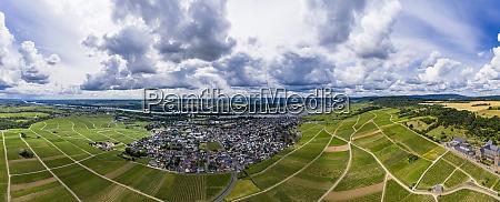 germany hesse eibingen helicopter panorama of