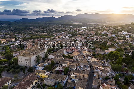 spain mallorca calvia helicopter view of