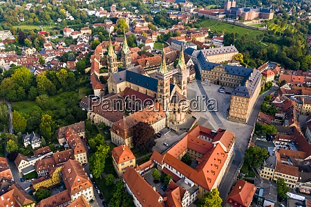 bamberg cathedral with cityscape at bamberg