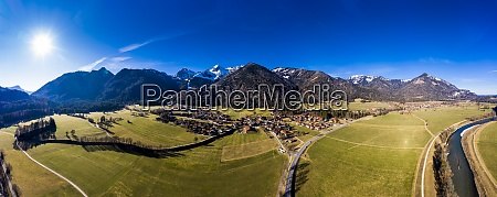 germany bavaria schleching helicopter panorama of