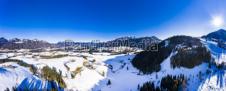 austria tyrol kossen helicopter panorama of
