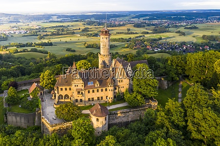 germany bavaria bamberg helicopter view of