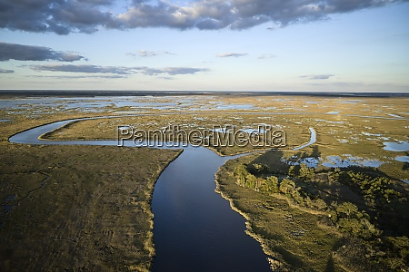usa maryland drone view of marshes