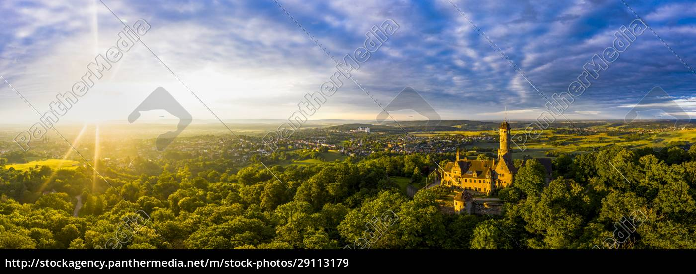 germany, , bavaria, , bamberg, , helicopter, panorama, of - 29113179