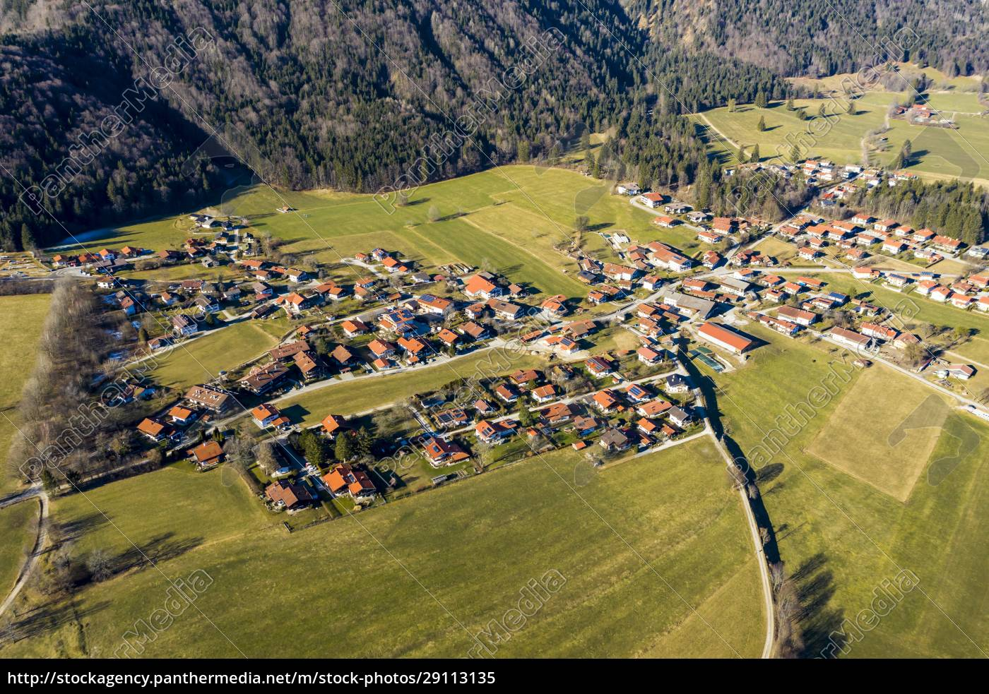 germany, , bavaria, , schleching, , helicopter, view, of - 29113135