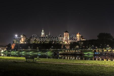 poland krakow wawel castle complex at