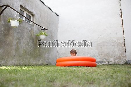 germany freiburg little girl sitting in