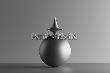 three dimensional render of metallic top
