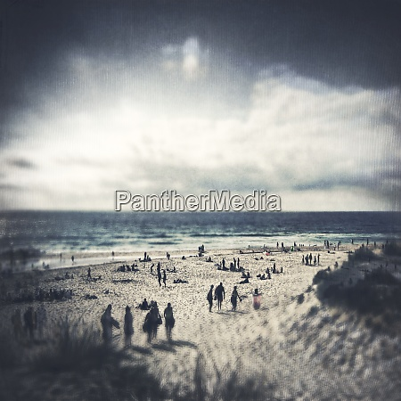 france beach of contis plage textured