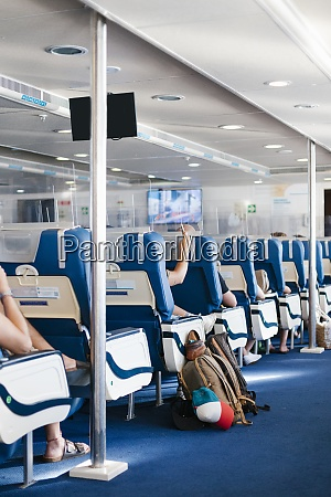 seats with glass screens in cruise