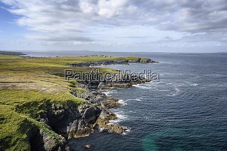uk scotland rocky cliffs of tiumpan