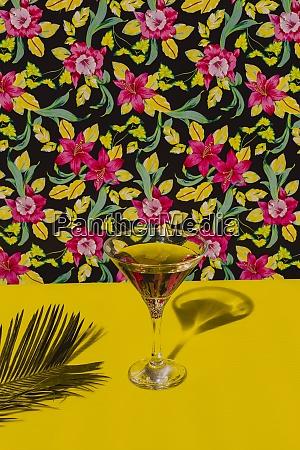 glass of cocktail liquor kept on