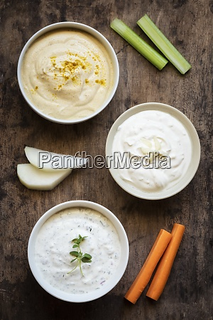 variety of sour cream with vegetable