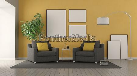 black armchair in a modern living