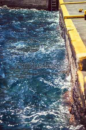 greece cyclades santorini moving water at