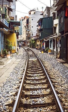 vietnam hanoi residential houses besides the
