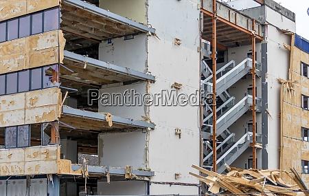 austria linz demolition of an office