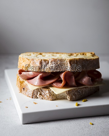 ready to eat sandwich with mortadella