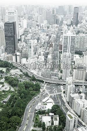 japan tokyo cityscape with mainroads