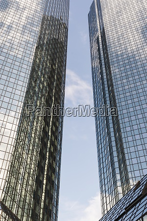 germany hesse frankfurt facades of two