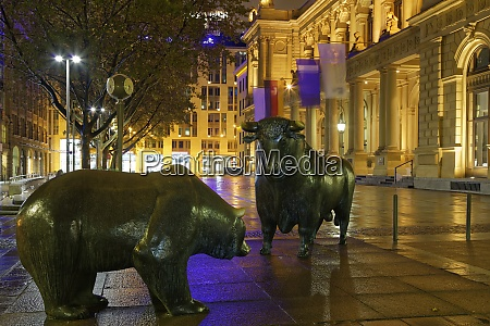 germany hesse frankfurt bull and bear