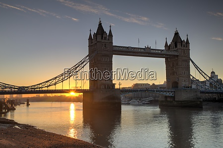 uk london river thames with tower