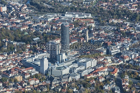 germany jena aerial view of the