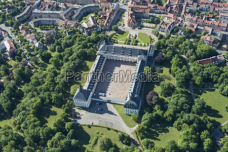 germany gotha aerial view of friedenstein