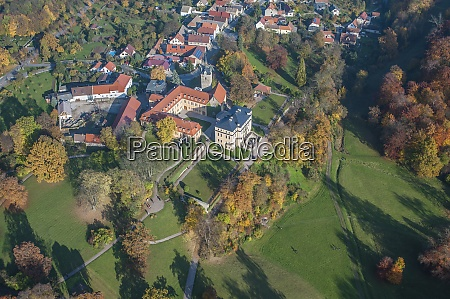 germany weimar aerial view of ettersburg