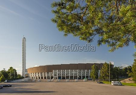 finland helsinki view to olympic stadium
