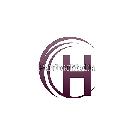 wave circle letter h logo icon