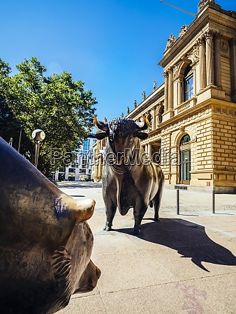 germany frankfurt bull and bear bronze