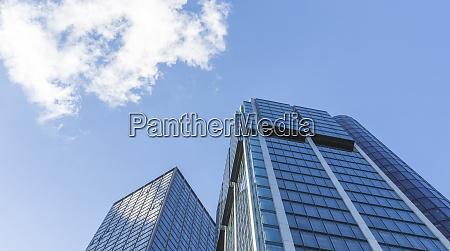 germany frankfurt modern skyscrapers at financial