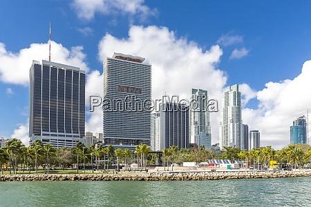 usa florida miami bayfront park with