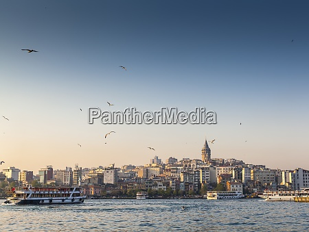 turkey istanbul view to galata tower