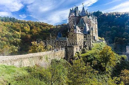 germany wierschem view to eltz castle