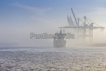 germany hamburg container ship disapears in