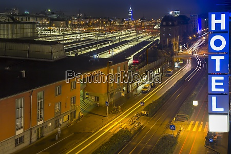 germany munich central station by night