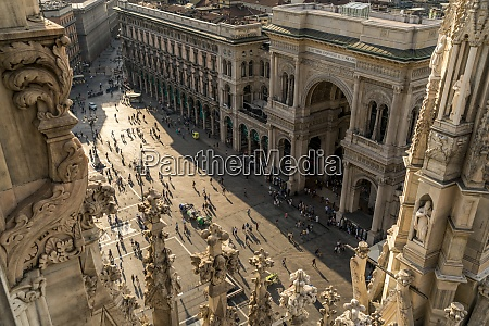 italy milan view from milan cathedral