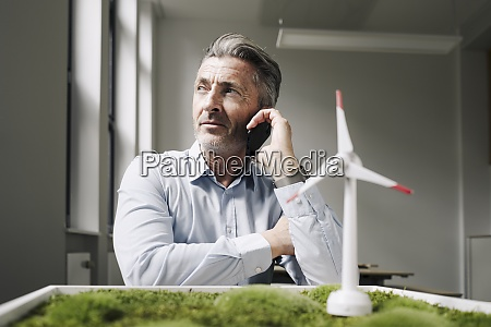 businessman on the mobile phone sitting