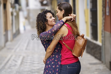 romantic couple embracing each other while