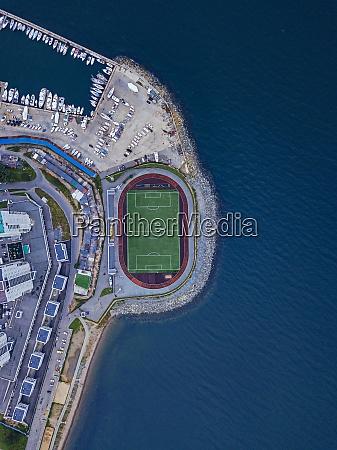 russia primorskykrai vladivostok aerial view of
