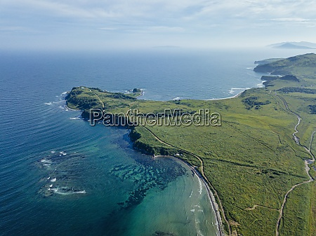 aerial view of cape gakkel on