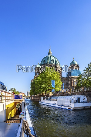 germany berlin berlin cathedral ships on
