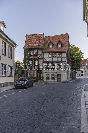 germany saxony anhalt quedlinburg half timbered