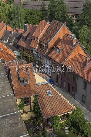 germany saxony anhalt quedlinburg old town